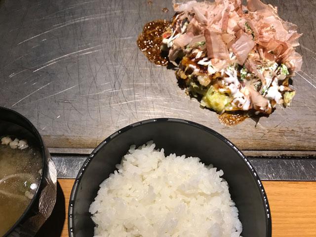 お好み焼き定食 2