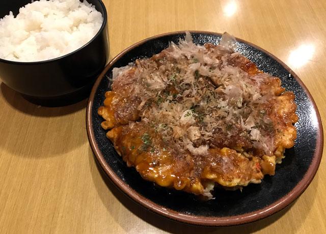 お好み焼き定食 3