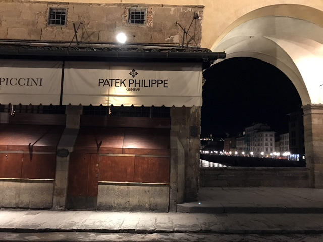 ポンテヴェッキオのパテック・フィリップ