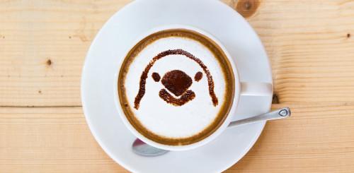 ラテアート 文鳥 コーヒー