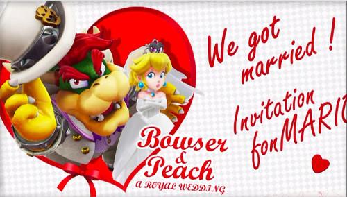 クッパ ピーチ 結婚式の招待状