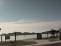 那智駅から見える海水浴場
