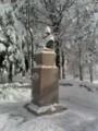 クラーク氏、雪に埋まる