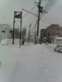 12号線付近、雪に埋まる