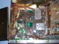 左中央にバックアップ電池の載ったRAM UNITが。