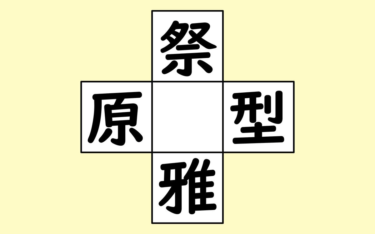 漢字穴埋めで頭の体操