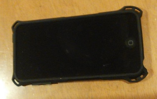 ELECOM iPod touch 2015 ZEROSHOCKケース ブラック AVA-T15ZEROBK