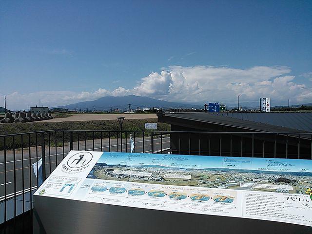道の駅伊豆ゲートウェイ函南から富士さん見えない