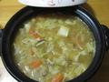 土鍋で豚汁