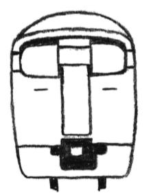 電車のぬりえ3