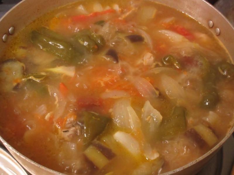 野菜スープのできあがった写真