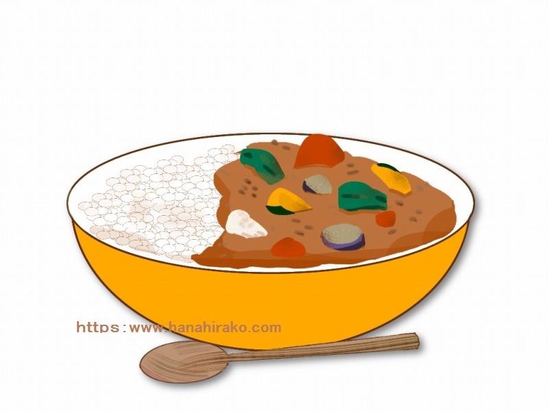 夏野菜カレーのイラスト