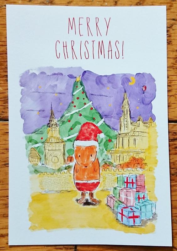 ピンポンパンポンプ―のクリスマスカード