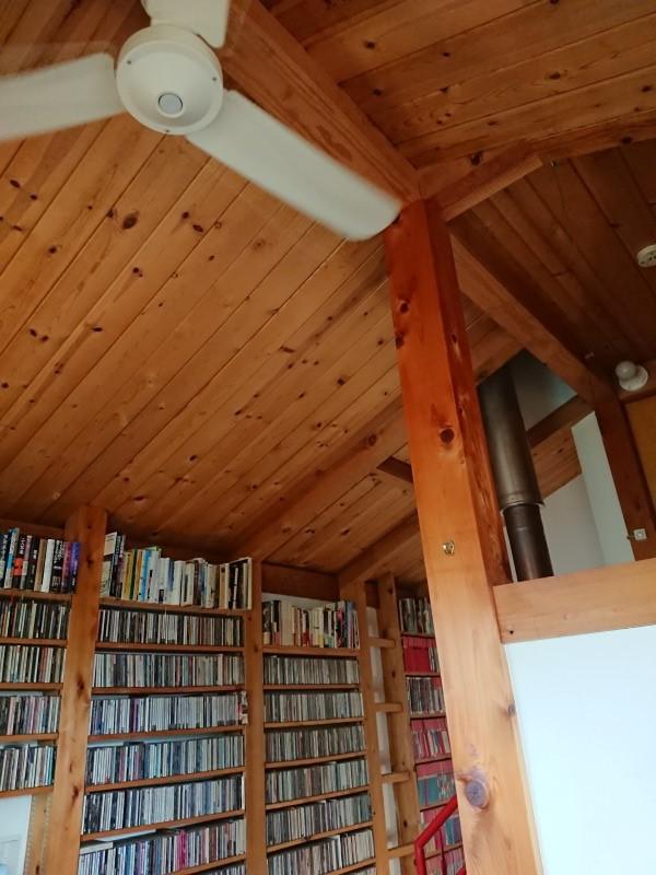 森のカフェ 天井