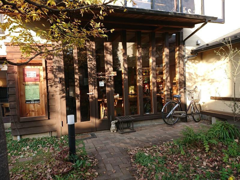 森のカフェ外観