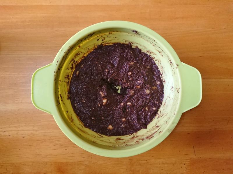 おからのチョコバナナケーキの作り方2 材料をよく混ぜる