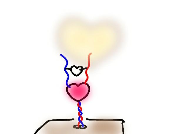 ワン・フロム・ザ・ハート ライトをつけた時の絵