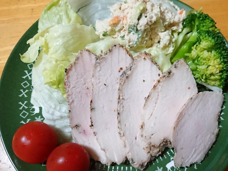 サラダチキンの一皿