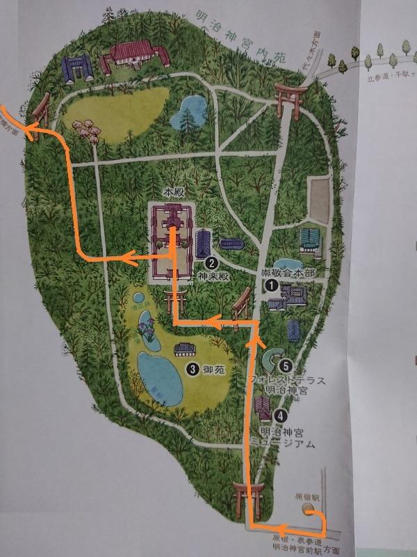 明治神宮の地図