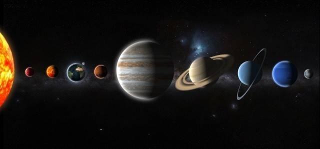 惑星の並んだ画像