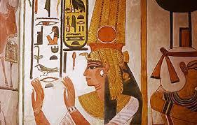 古代エジプトの女性を描いた壁画