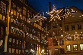 フランスのクリスマスの町並み