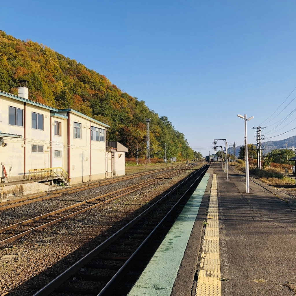 遠軽駅の湧別側は線路が途切れています