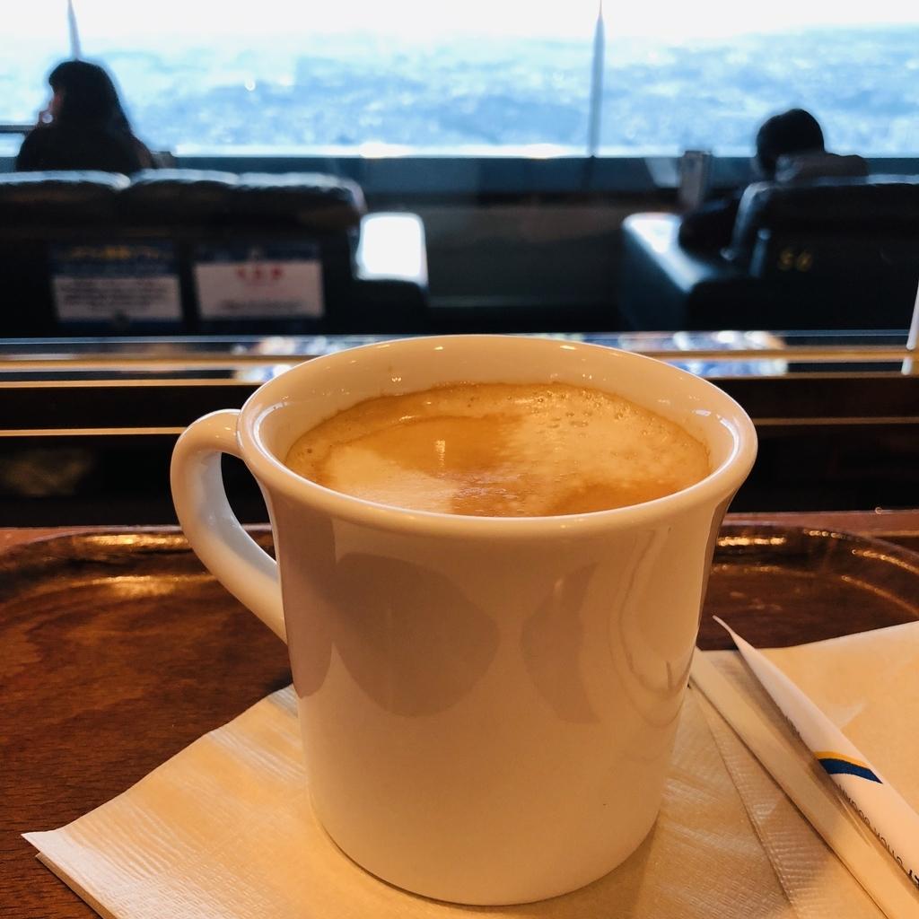 スカイカフェ、カウンターテーブルからの景色