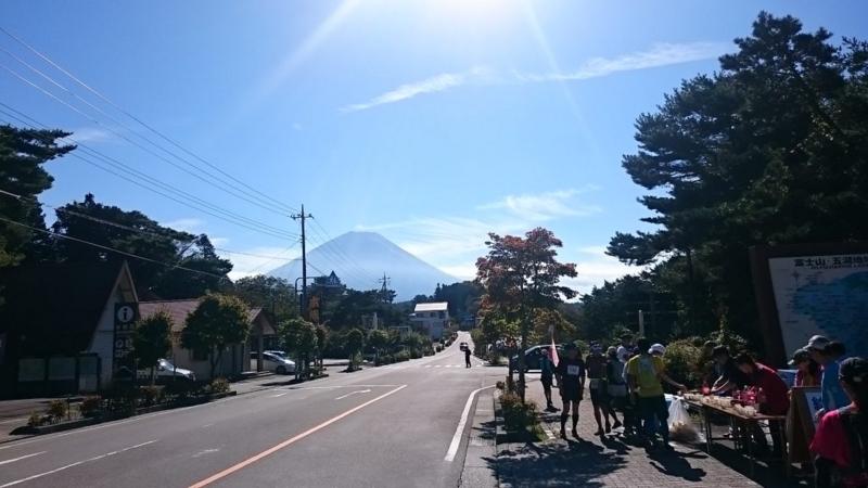 本栖湖エイドからの富士山