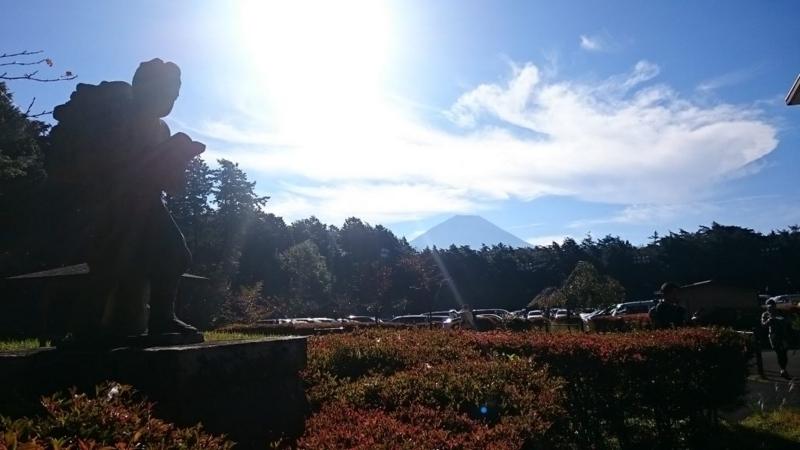 富士山原始林トレイルランの大会会場(旧精進小学校)