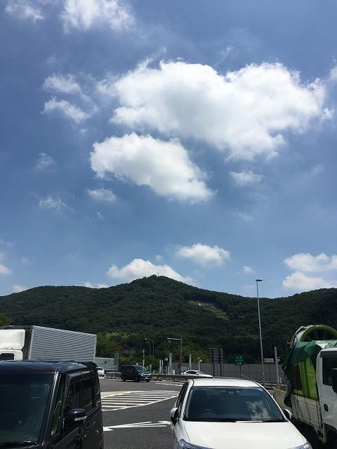 鬼怒川温泉に向かう途中のSAからの景色