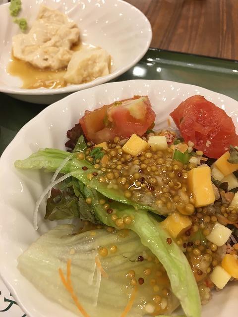 ホテルビュッフェ(サラダ・湯葉豆腐)
