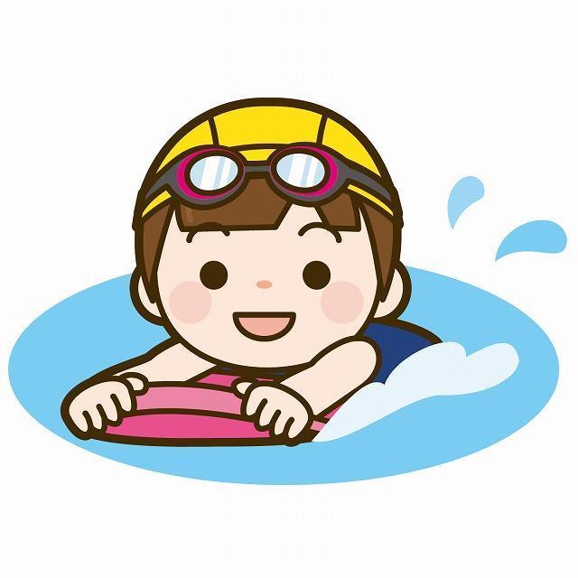 ビート板で泳ぐ様子