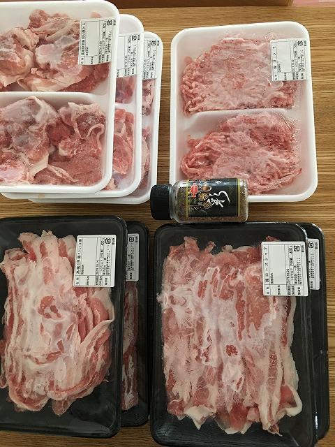 ふるさと納税の豚肉3.6キロ