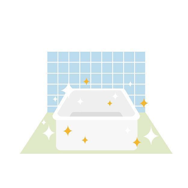 お風呂掃除のイメージイラスト