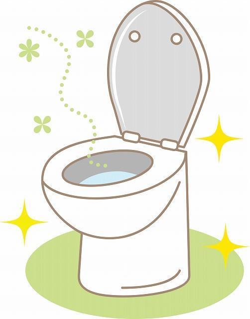 トイレ掃除のイメージイラスト