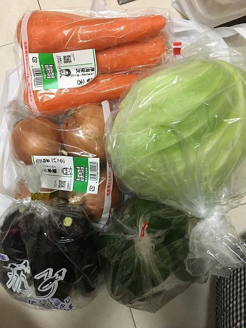 ネットスーパーの野菜セット