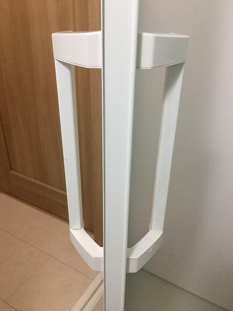 浴室ドアの側面掃除後2
