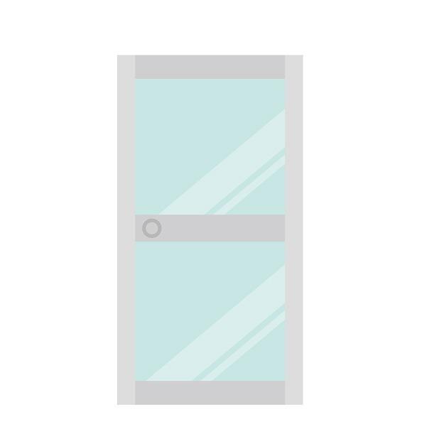 浴室ドアのイメージイラスト