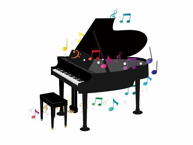 ピアノのコンクールイメージイラスト