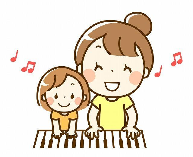 ピアノの練習イメージイラスト
