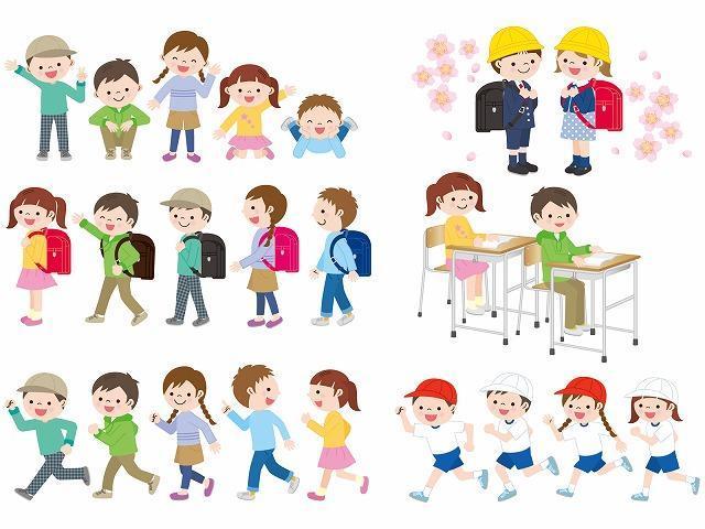 小学生の通学服イメージイラスト