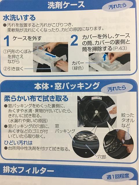 ドラム式洗濯機、蓋まわりの掃除方法