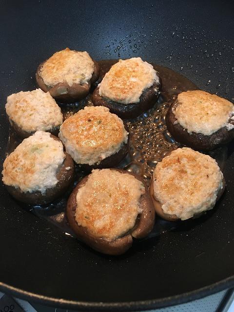 椎茸の肉詰め作り方2