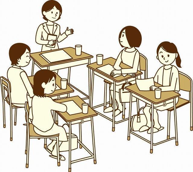 小学校の懇談会イメージ