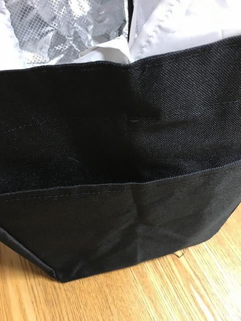 レジカゴバッグのサイドポケット