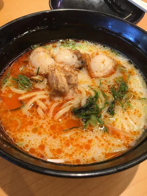 スシロー ほたての黒ごま担々麺2