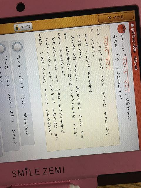 スマイルゼミ【発展クラス】国語の問題