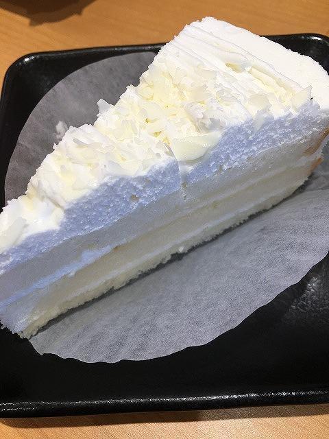 スシロー【ホワイトチョコケーキパリッチ】