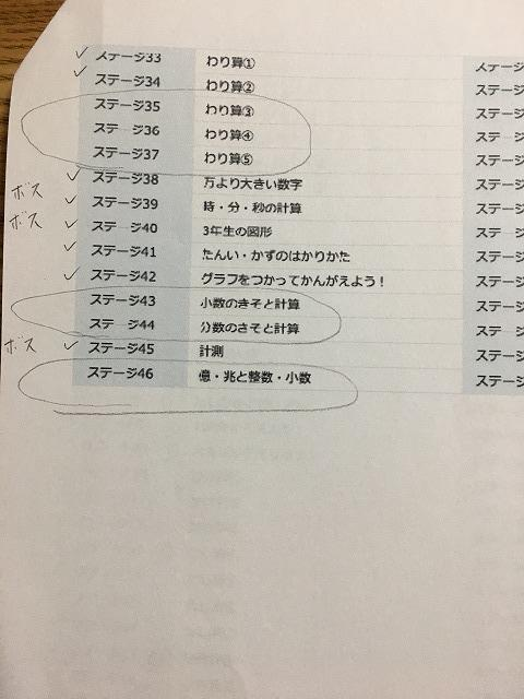 RISU算数ステージ一覧2